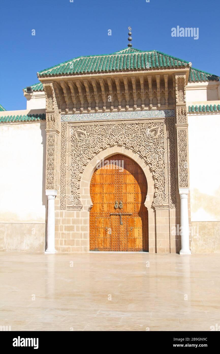 Tor vor dem Mausoleum von Moulay Ismail, Meknes, Marokko Stockfoto