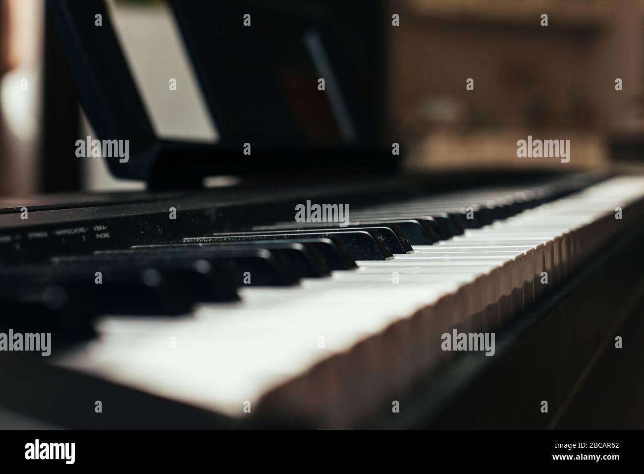 Piano Keyboard Musical ins.Piano Keyboard Stockfoto