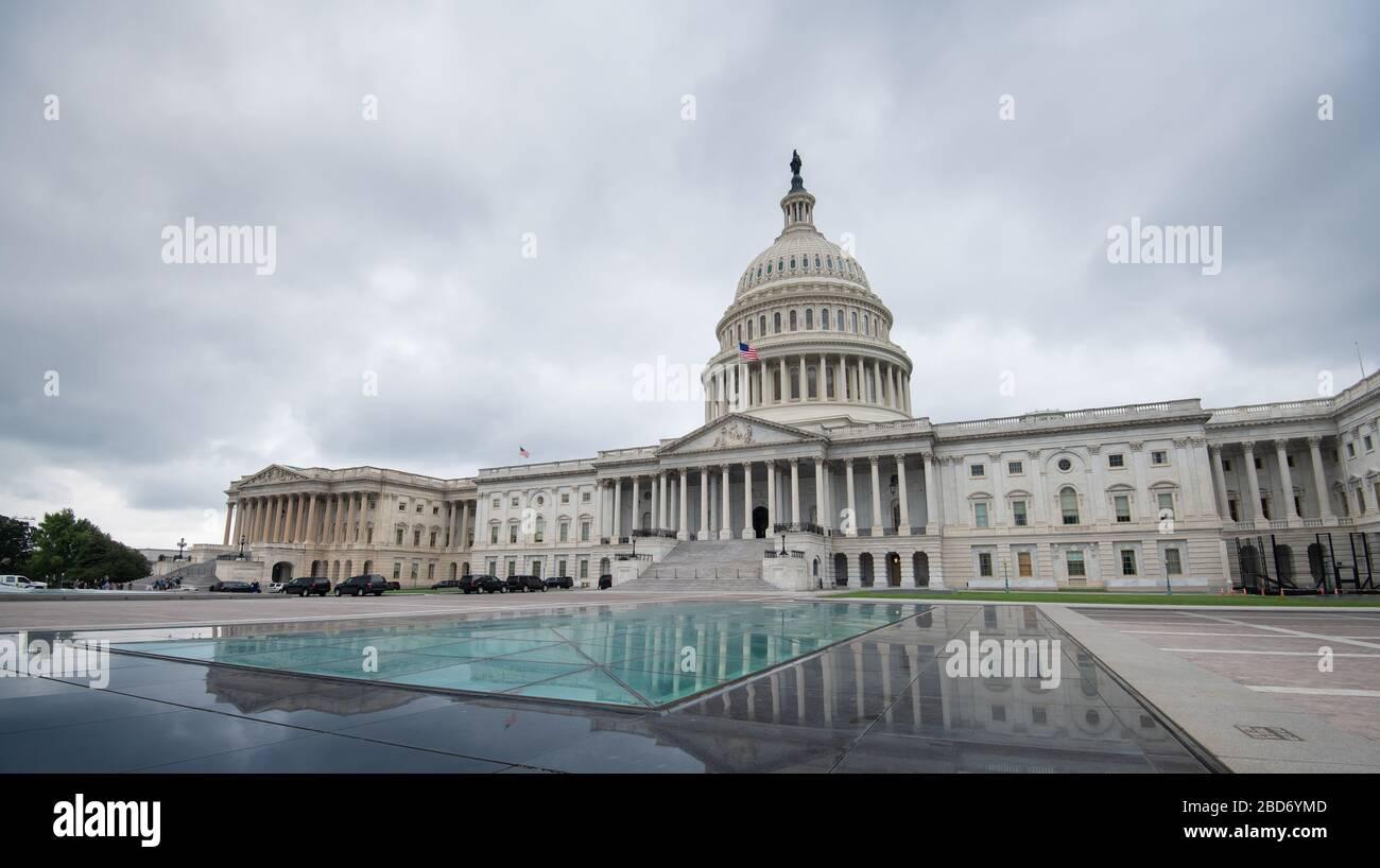 Das Kapitolgebäude der Vereinigten Staaten in Washington DC, Vereinigte Staaten von Amerika Stockfoto