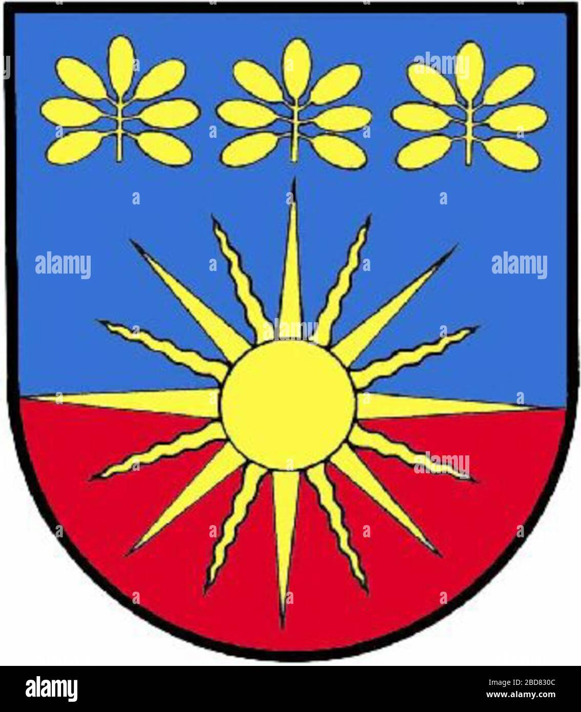 """""""Weitersch: Wappen der ehemaligen Gemeinde Saifen-Boden, Steiermark Englisch: Wappen der ehemaligen Gemeinde Sonnhofen, Styria; Unbekanntes Datum; http://www.ngw.nl/int/oos/s/sonnhofen.htm; Unbekannter Autor; ' Stockfoto"""