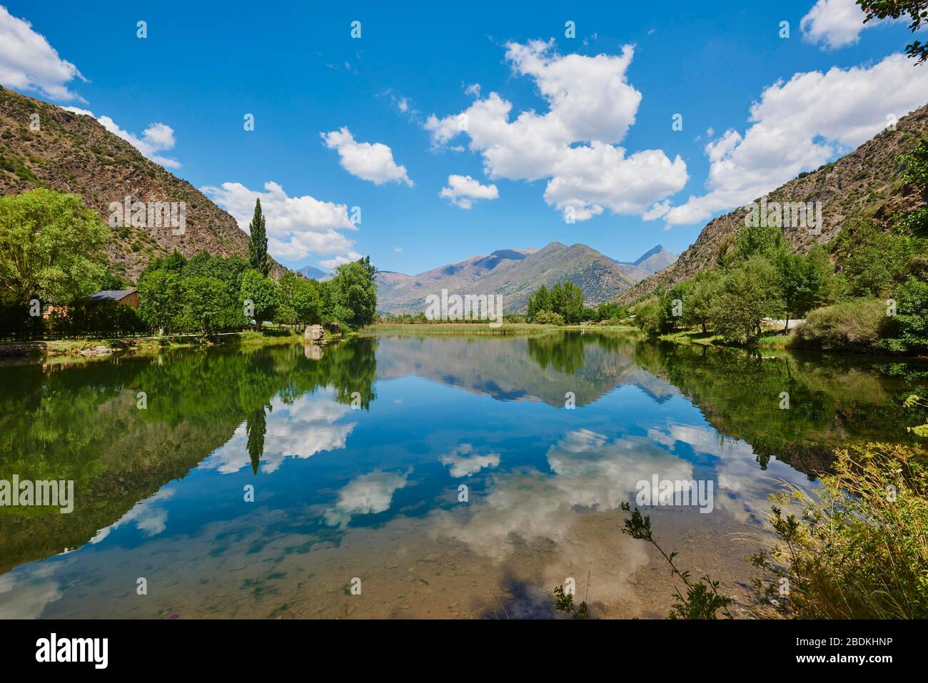 Panta de la Torrassa See in den Bergen, Pyrenäen, Provinz Lleida, Katalonien, Spanien Stockfoto