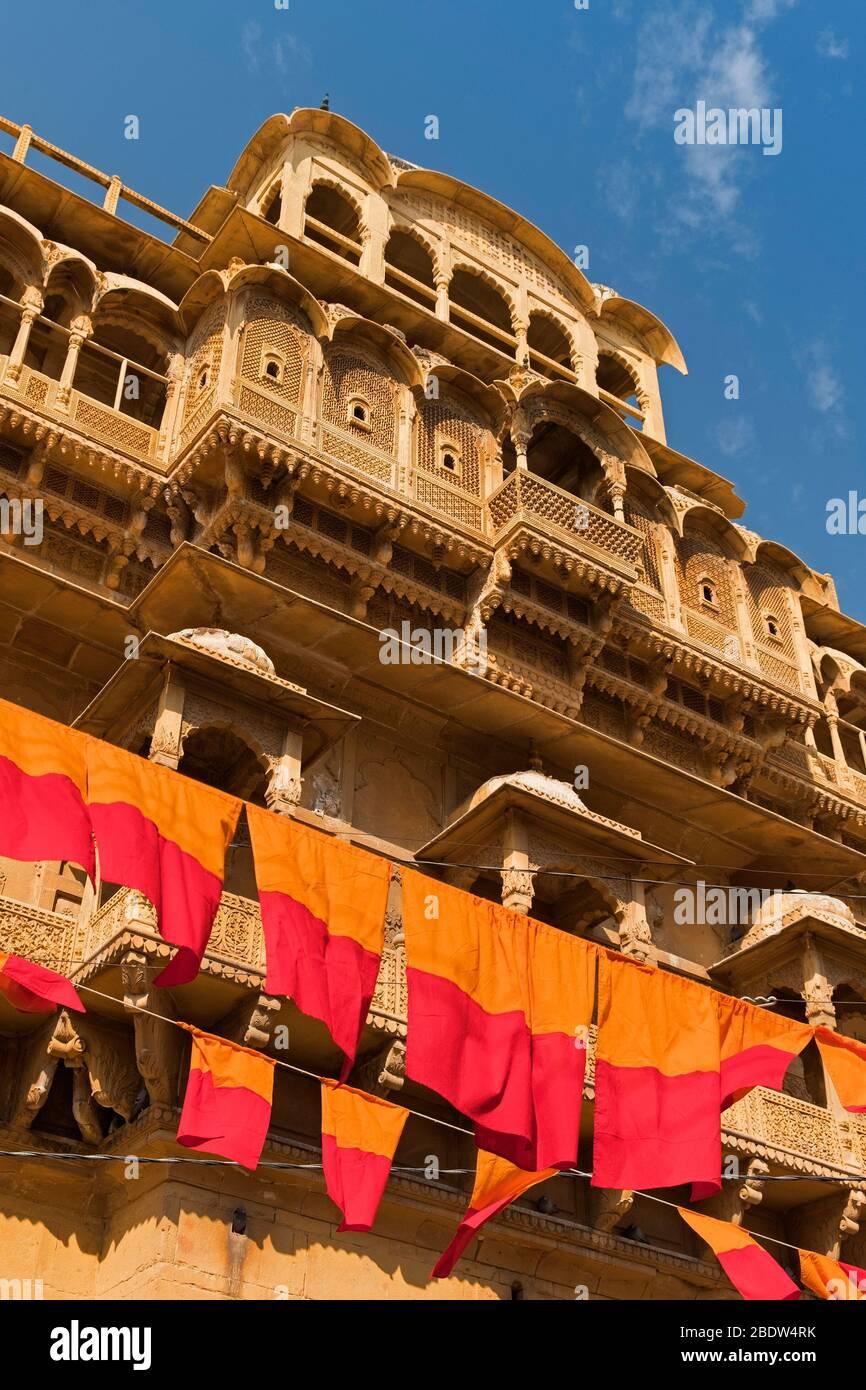 Raja Ka Mahal Palace Jaisalmer Fort Rajasthan Indien Stockfoto