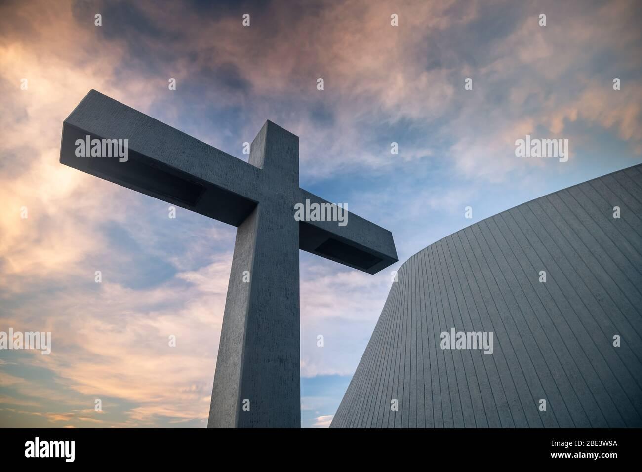 Blonduos Blonduoskirkja Kirche in Island Stockfoto