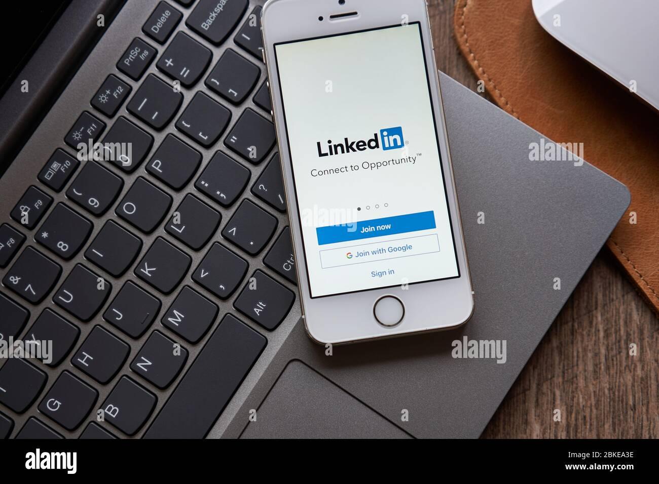 Linkedin Login Stockfotos und  bilder Kaufen   Alamy