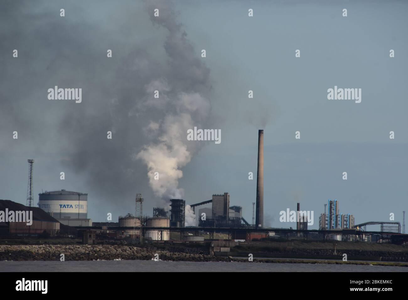 Ein Foto von Port Talbot Stahlwerk - West Glamorgan, Wales Stockfoto