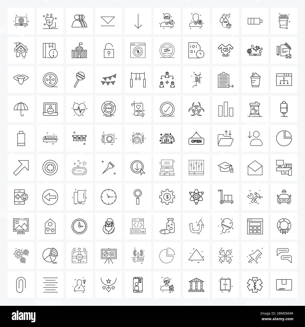 Stock Vektor Symbol Satz von 20 Linien Symbole für Avatar, unten ...