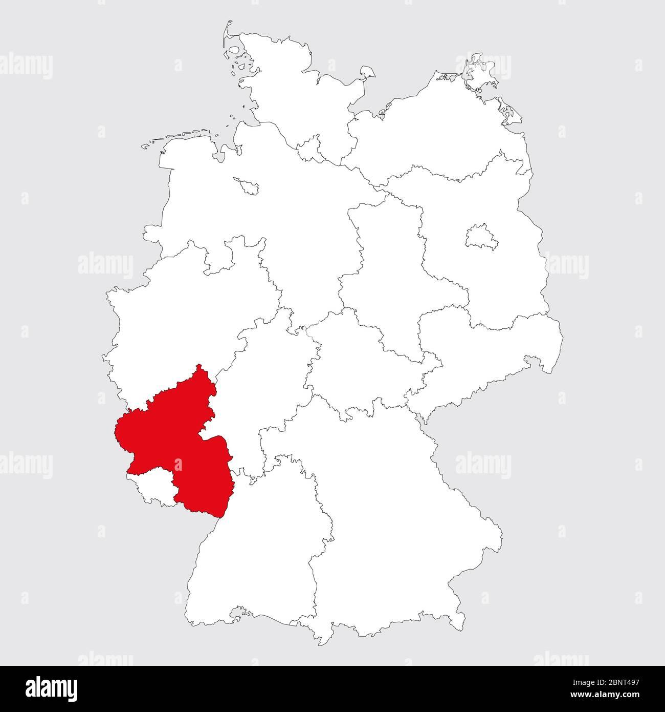 Rheinland Pfalz Vektor Stockfotos Und Bilder Kaufen Alamy