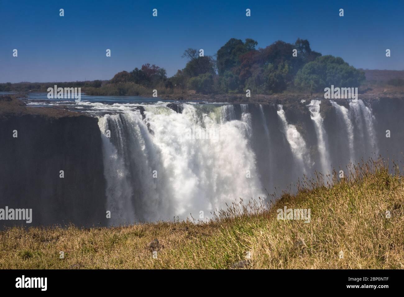 Victoria Falls Simbabwe im September Stockfoto