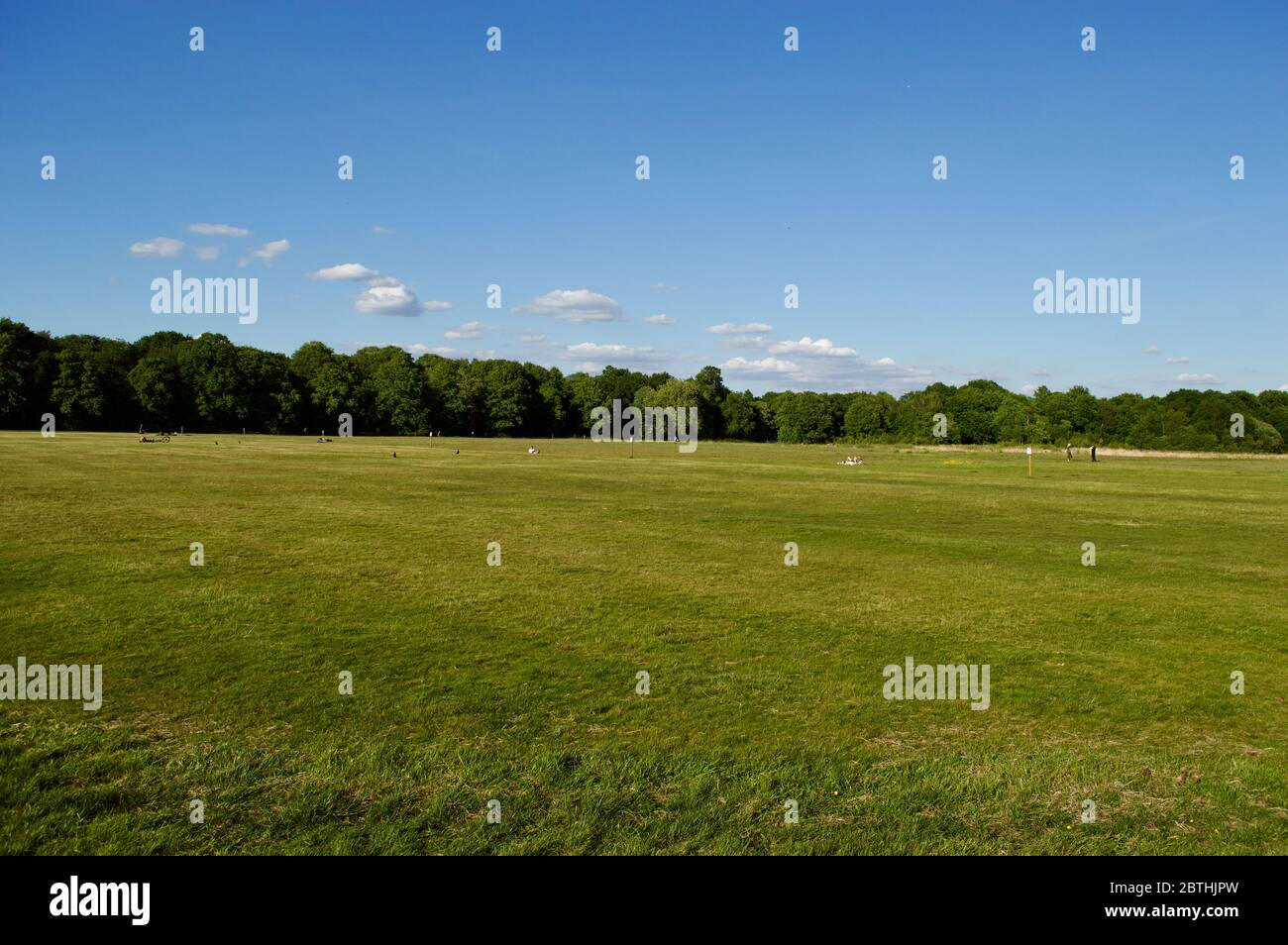 Ein leeres Feld in Wimbledon Common, London, Großbritannien Stockfoto