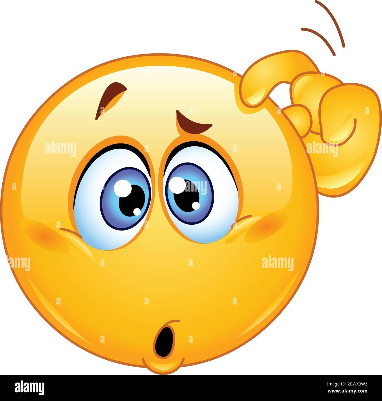 Thinking Emoji Icon Vector Vectors Stockfotos und -bilder Kaufen ...
