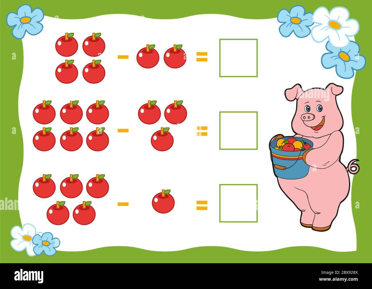 Zählspiel für Kinder im Kindergarten. Arbeitsblätter für ...