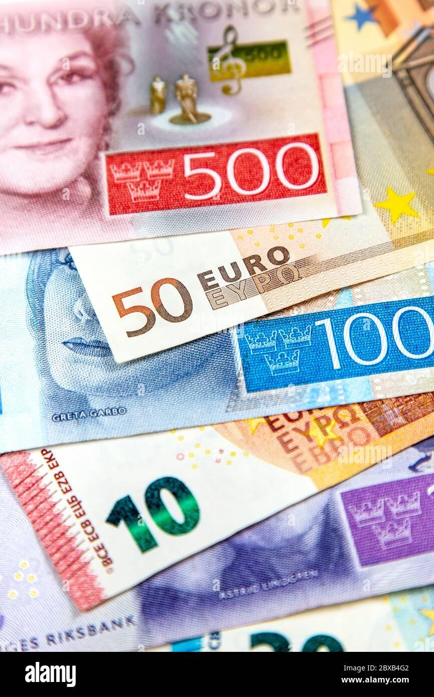 Schwedische Krone Euro Stockfotos Und Bilder Kaufen Alamy