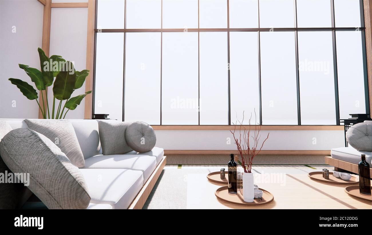 Große Halle Innenarchitektur, große Zimmer im japanischen Stil ...