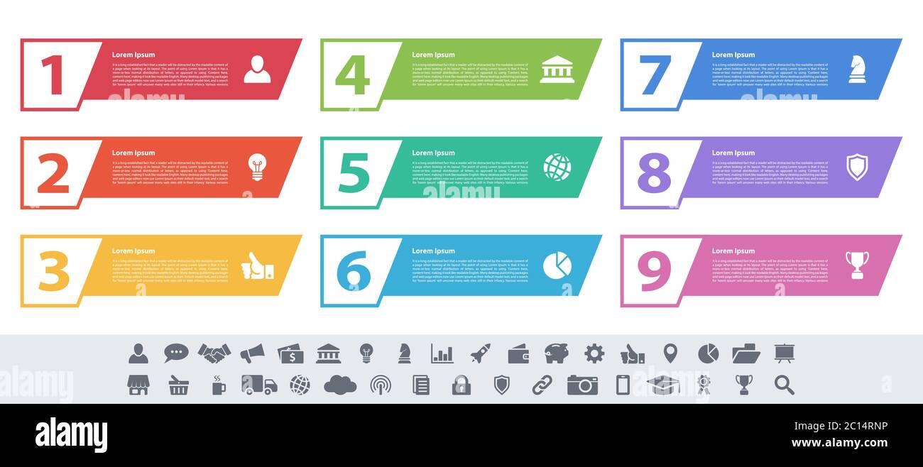 Template Infographic 8 Stockfotos und  bilder Kaufen   Alamy