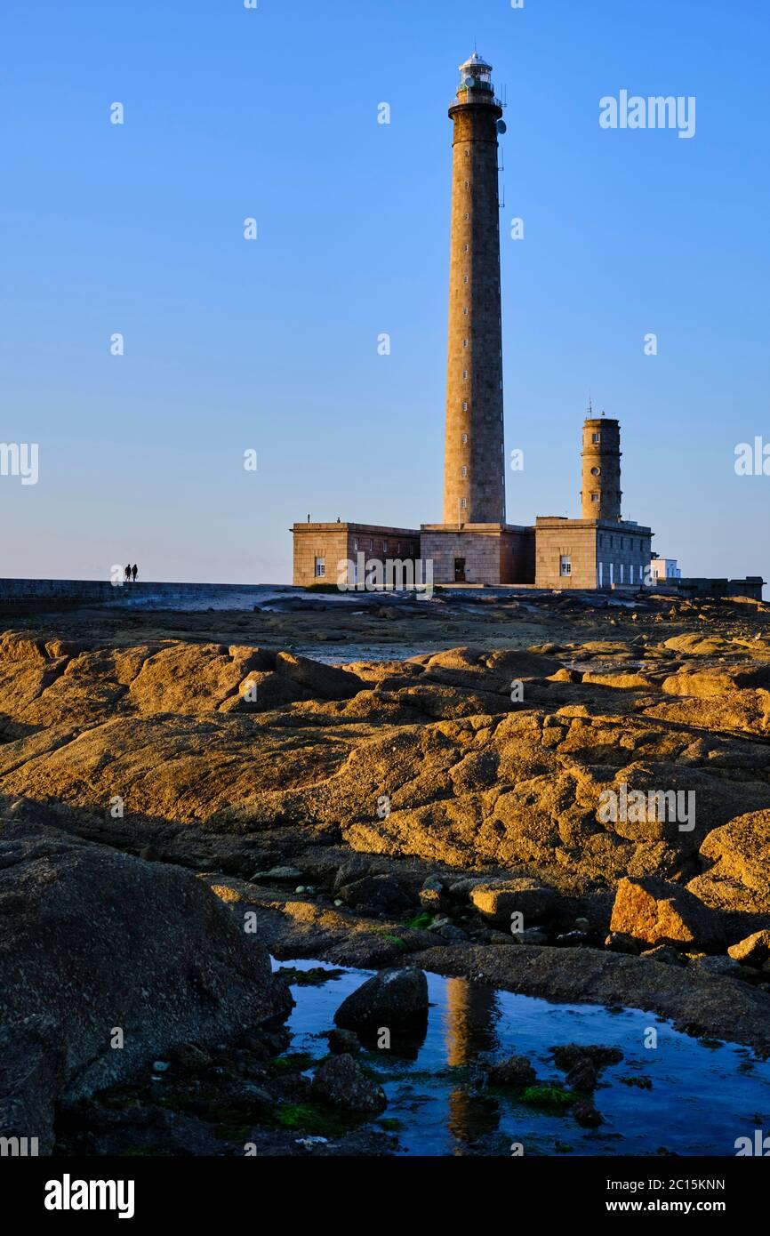 Frankreich, Normandie, Manche, Cotentin, Gatteville-le-Phare oder Gatteville-Phare, der Leuchtturm von Gatteville oder der Leuchtturm von Gatteville-Barfl Stockfoto