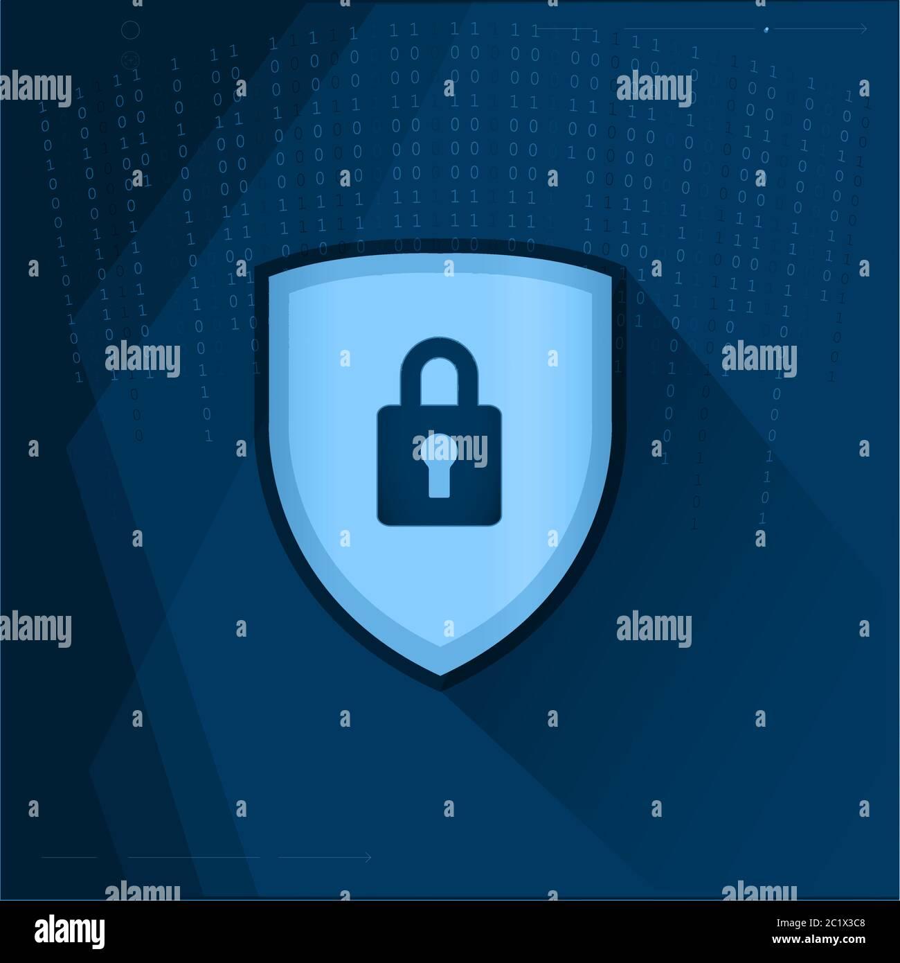 Schutzkonzept. Schutz von Mechanismus, Systemschutz. Vektorgrafik Stock Vektor