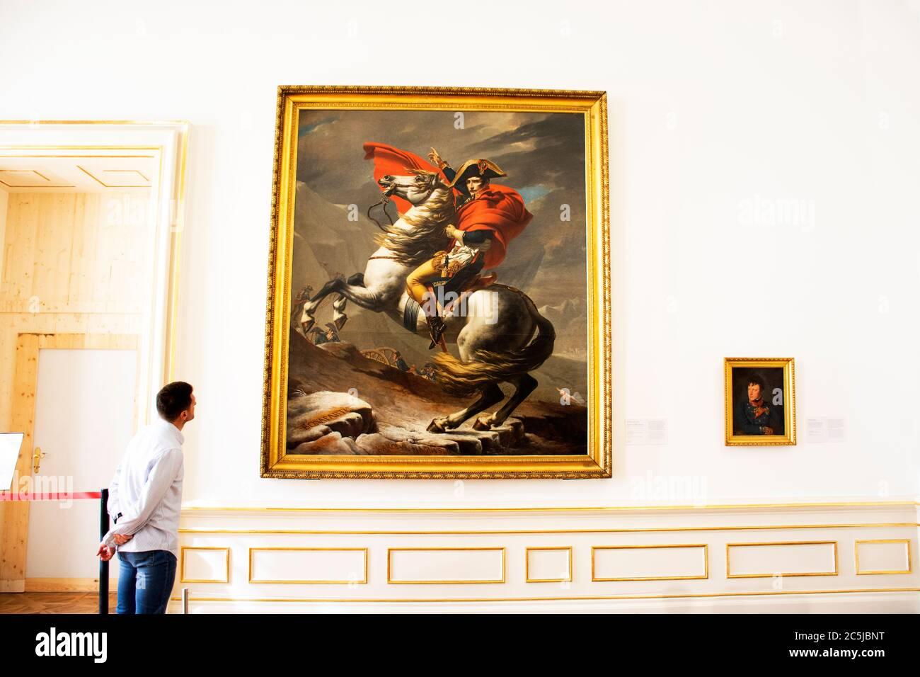 Retro Vintage klassische antike Kunst Inneneinrichtung Design für Österreicher und ausländische Reisende Besuch im Schloss Belvedere oder Schloss Historic Stockfoto