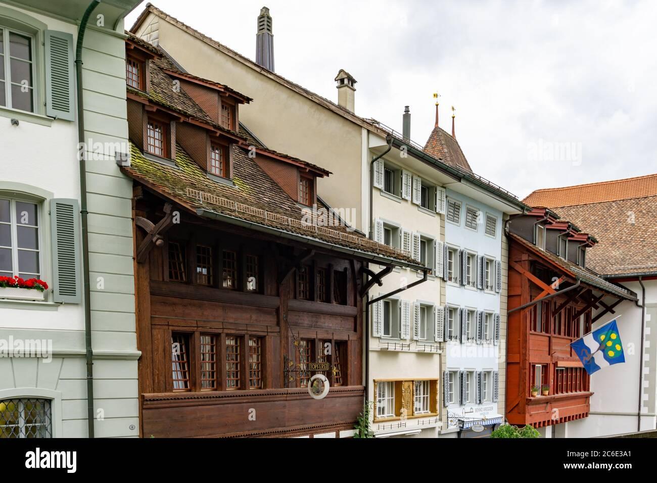 Willisau, LU / Schweiz - 3. Juli 2020: Historische Altstadt von Willisau im Kanton Luzern Stockfoto