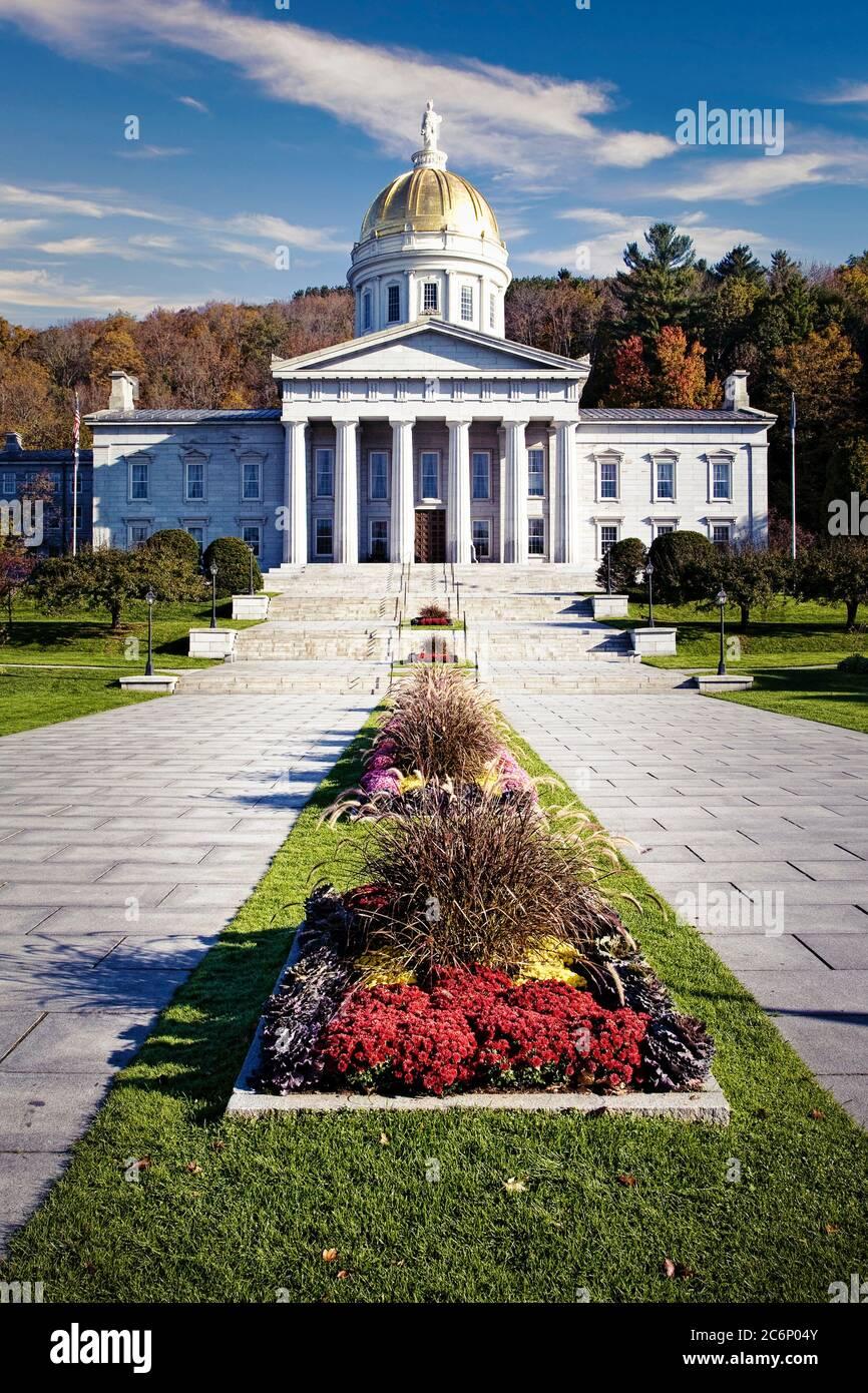 Die Landeshauptstadt Gebäude in Montpelier, Vermont. Stockfoto