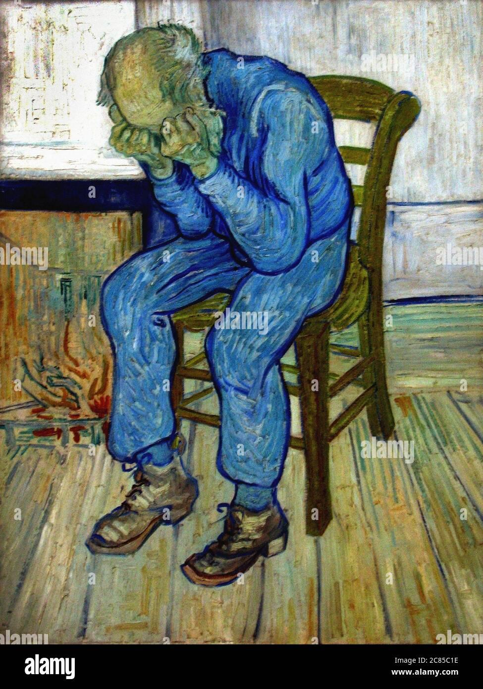 Das abgenutzte von Vincent Van Gogh 1895. Das Kroeller-Muller Museum in Otterlo, Niederlande Stockfoto