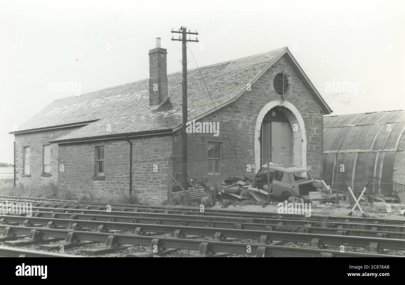 Railway Engine Shed - (Highland Railway), Thurso, Caithness, Schottland. Stockfoto