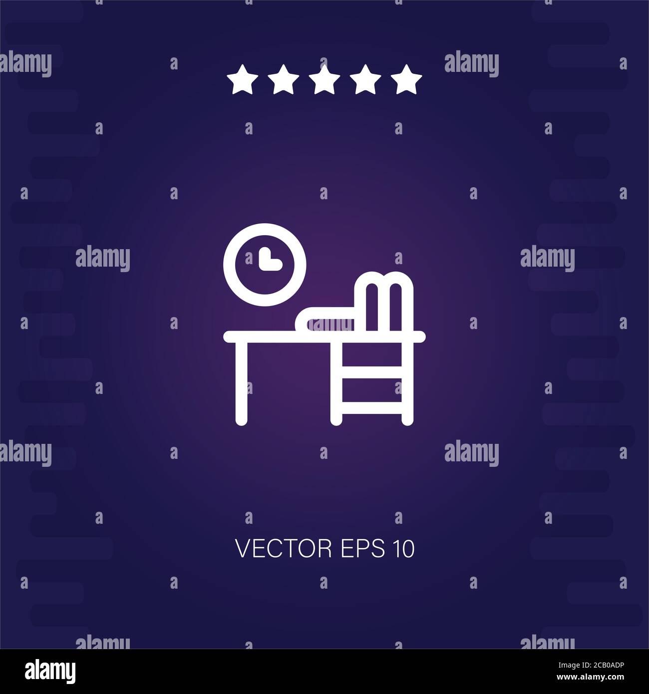 Arbeitsplatz Vektor Symbol moderne Illustration Stock Vektor