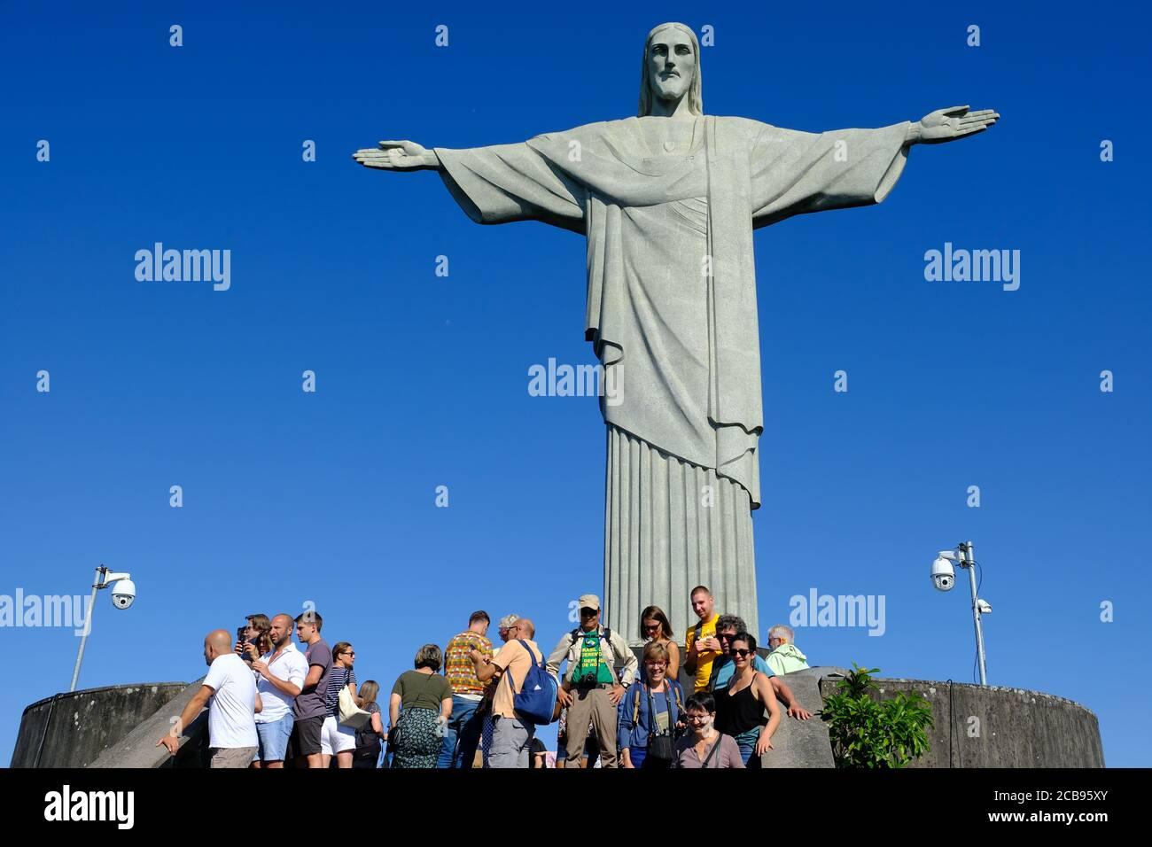 Brasilien Rio de Janeiro - Monte Corcovado mit Statue von Jesus Christus der Erlöser - Cristo Redentor Stockfoto