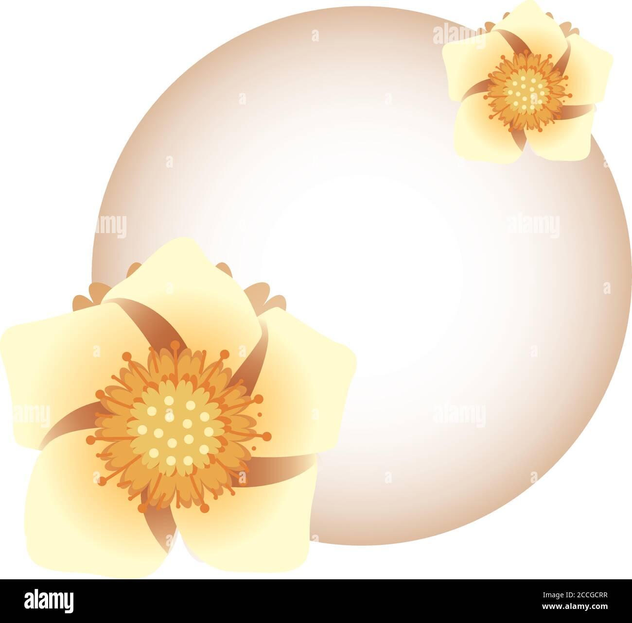 Mond mit Blumen Design, Mitte Herbst Ernte Mond Festival orientalischen chinesischen und Feier Thema Vektor Illustration Stock Vektor