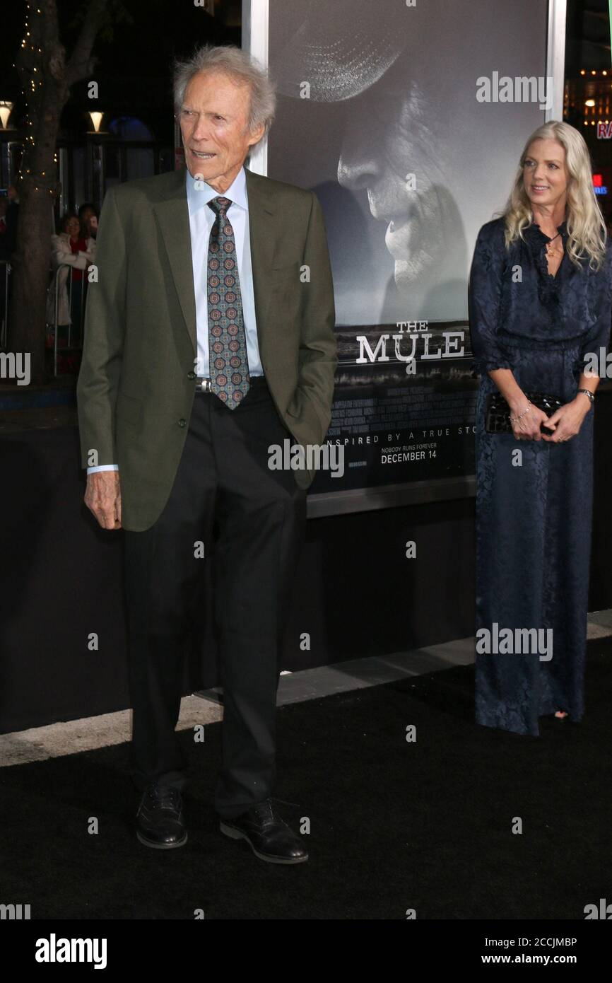 LOS ANGELES - DEZ 10: Clint Eastwood bei der Mule-Weltpremiere im Village Theatre am 10. Dezember 2018 in Westwood, CA Stockfoto