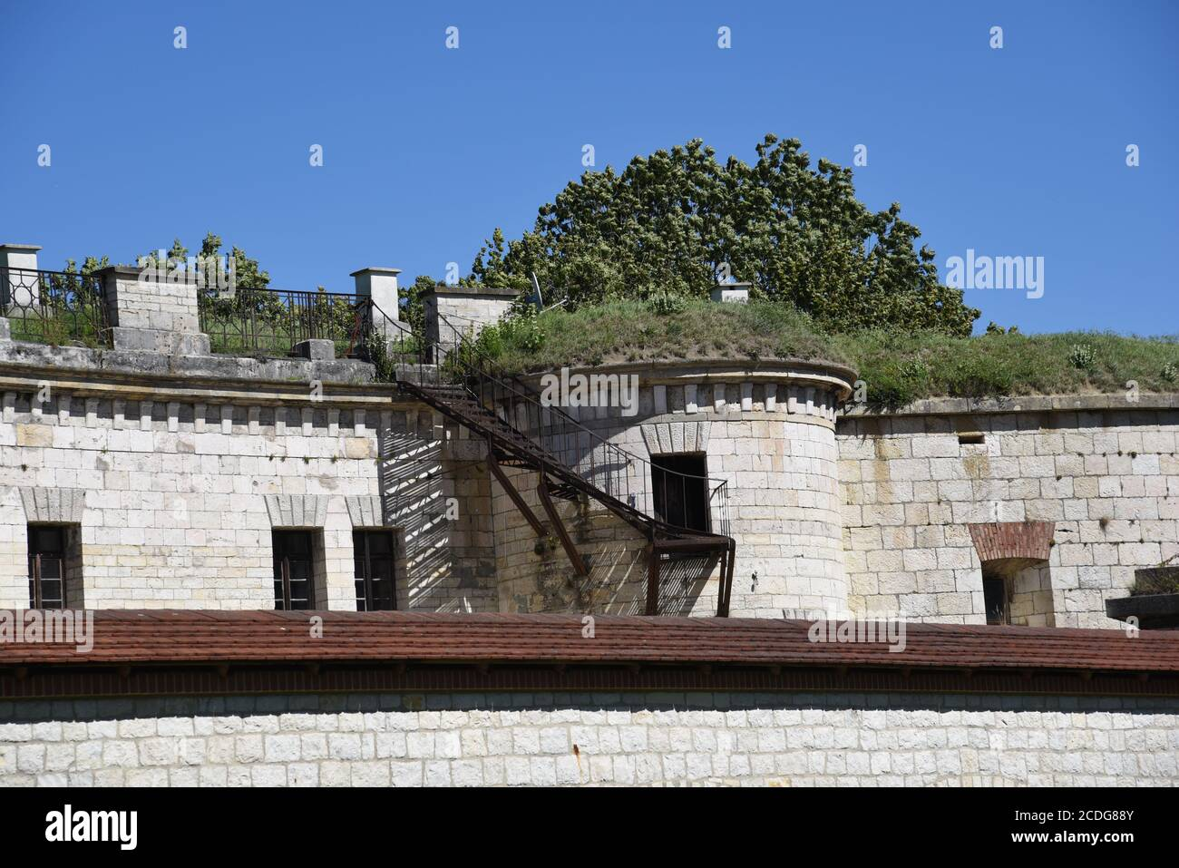 Blick auf Fort Albeck Stockfoto