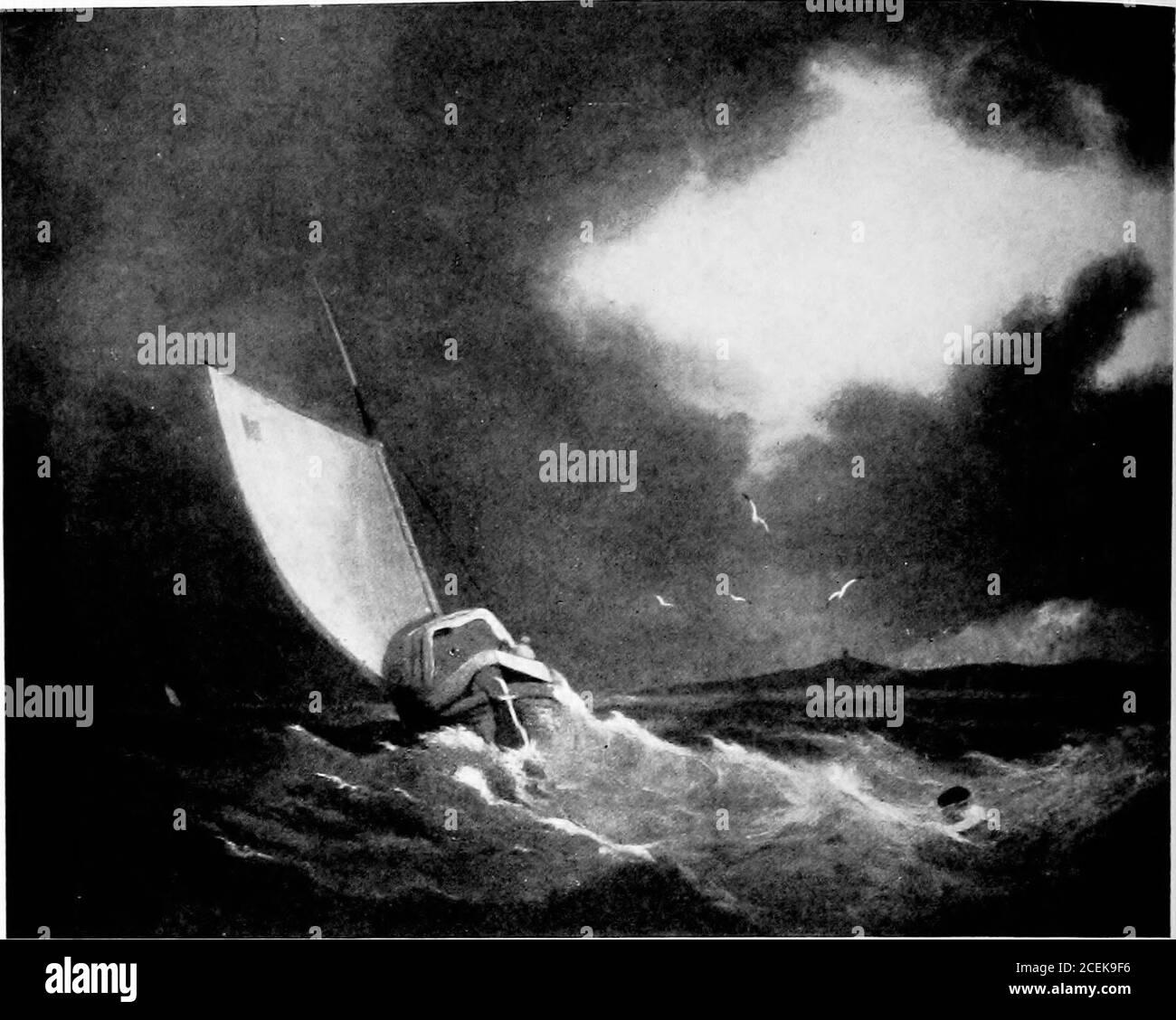 . Britische Meeresmalerei;. p , WKKK/km, : ll^illl k. .^Ili n .- ._^- --i •.-:s;:;-»V- - ■^■■^•■i*-»--■ ^ ,-S ^m yf Hi^^^PI^^^ (//t //« Collection at Barbizon House) SCHNELLE BURG. DURCH DIE REV. JOHN THOMSONOF DUDDINGSTON. R.S A. 47. Foto Woodbury Co. EIN GALIOT IN EINEM STURM VON JOHN VERKAUFEN COTMAN Kin der Nalioiial GatUrs. London) 48 Stockfoto