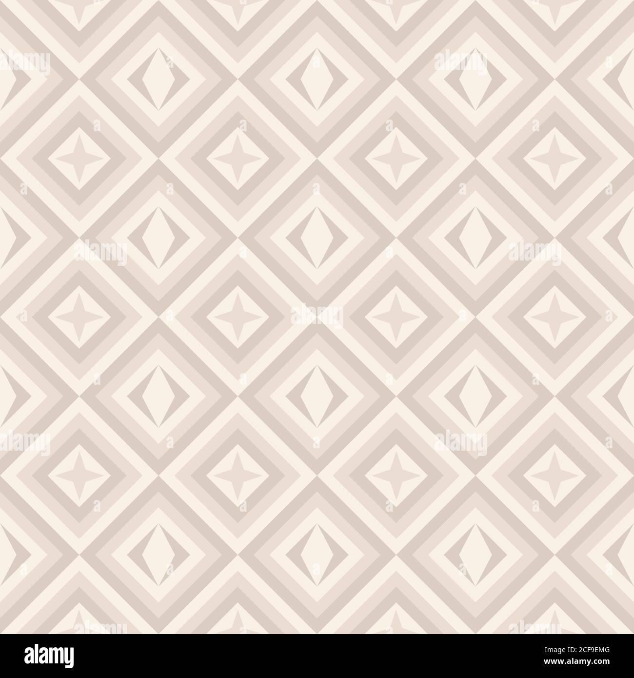 Mode geometrische Muster in Retro-Farben, nahtlose Vektor-Hintergrund. Für Mode Textil, Stoff, Hintergründe. Stock Vektor