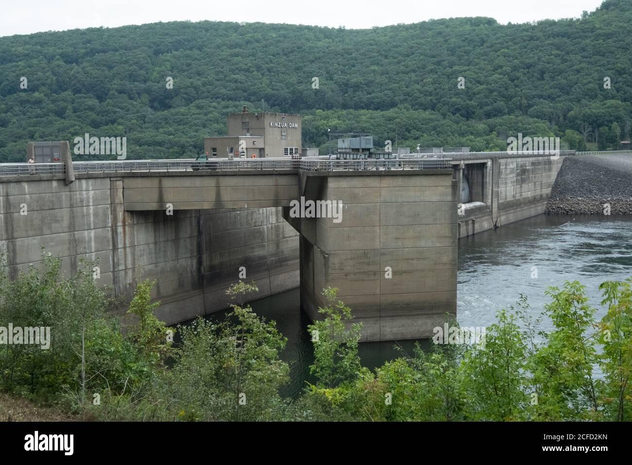 Kinzua Dam Power Station, Warren County, Allegheny National Forest, Pennsylvania, USA Stockfoto