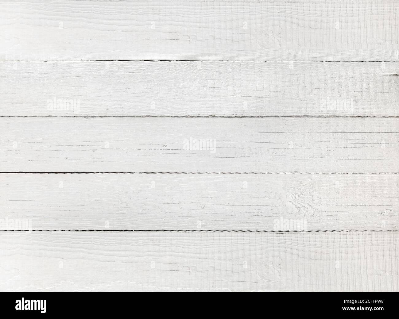 Weiß gefärbter Holzhintergrund mit natürlicher Textur. Digitalpapier Stockfoto