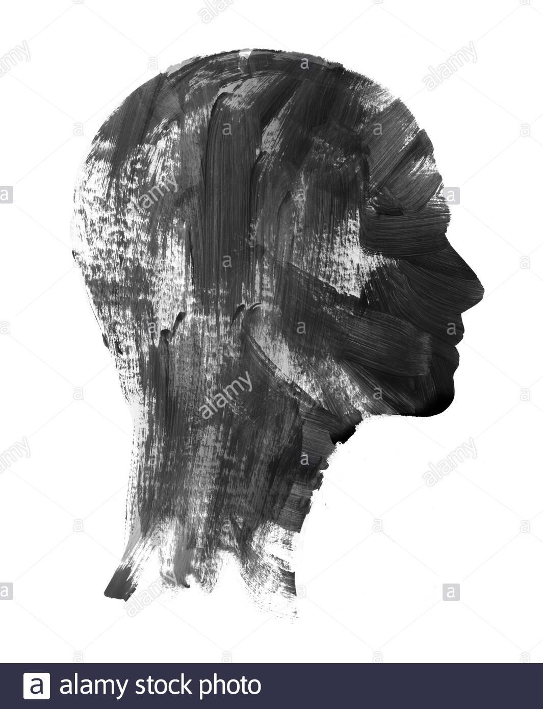 vintage frau profil silhouette