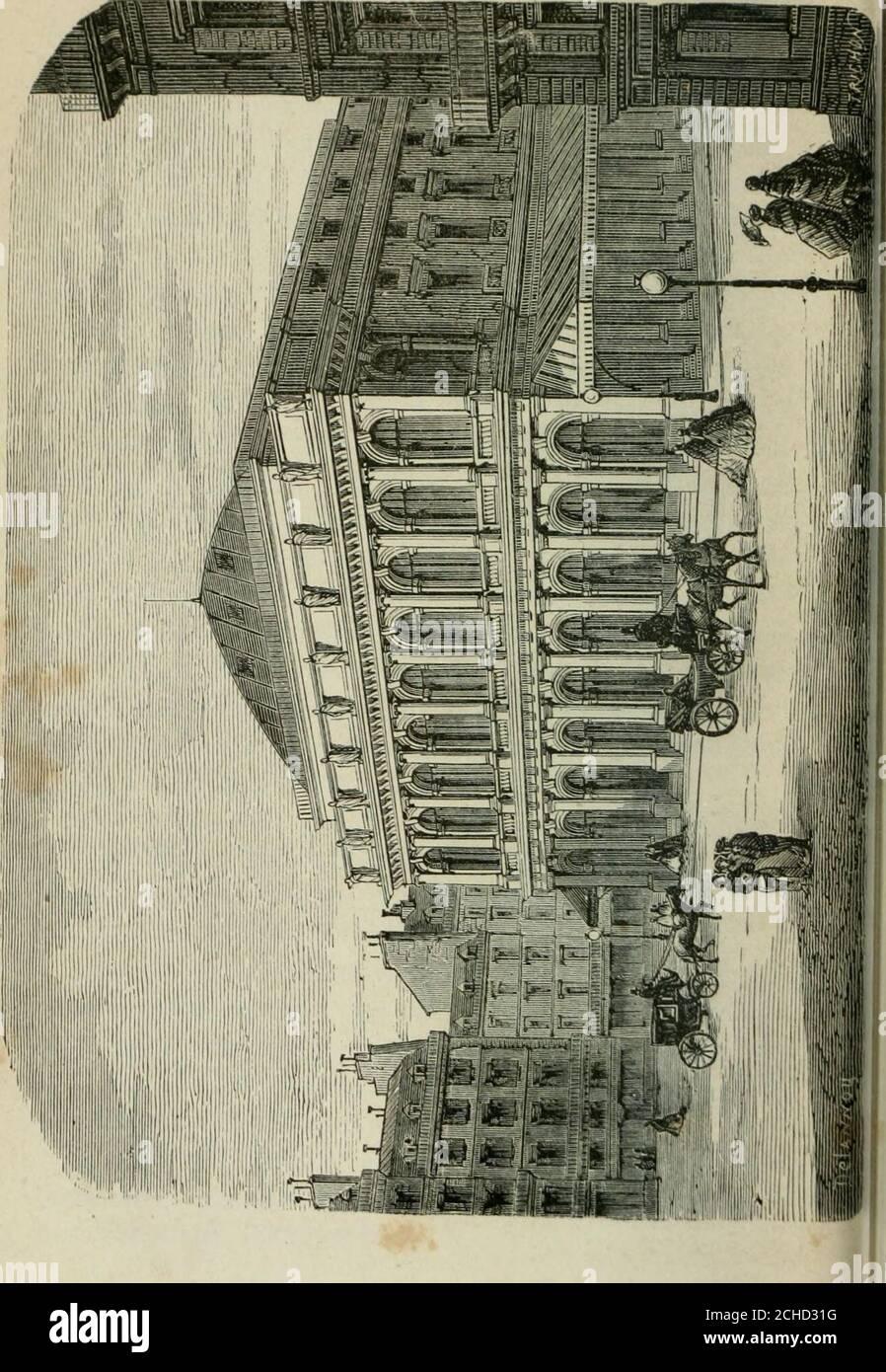 . Les merveilles du nouveau Paris-- . Cependant le publiccessa de se porter à la Comédie-Italienne et Donna la pré-férence à lOpéra-Comique. En 1780, les comédiens italiensse retirèrent; Mais la Truppe continua à exploiter le théâtresous le nom de Comédie-Italienne. En 1785, ce théâtre futtransporté dans la salle occupée aujourdhui par le théâtrede lOpéra-Comique, sur le Boulevard des Italiens. Le théâtre de lOpéra-Comique succéda à ceux de la Foire,où les comédiens italiens représentaient des pièces à ariet-tes. Il fut installé en 1716, à lhôtel de Bourgogne. Le succès de cette nouvelle scène Stockfoto