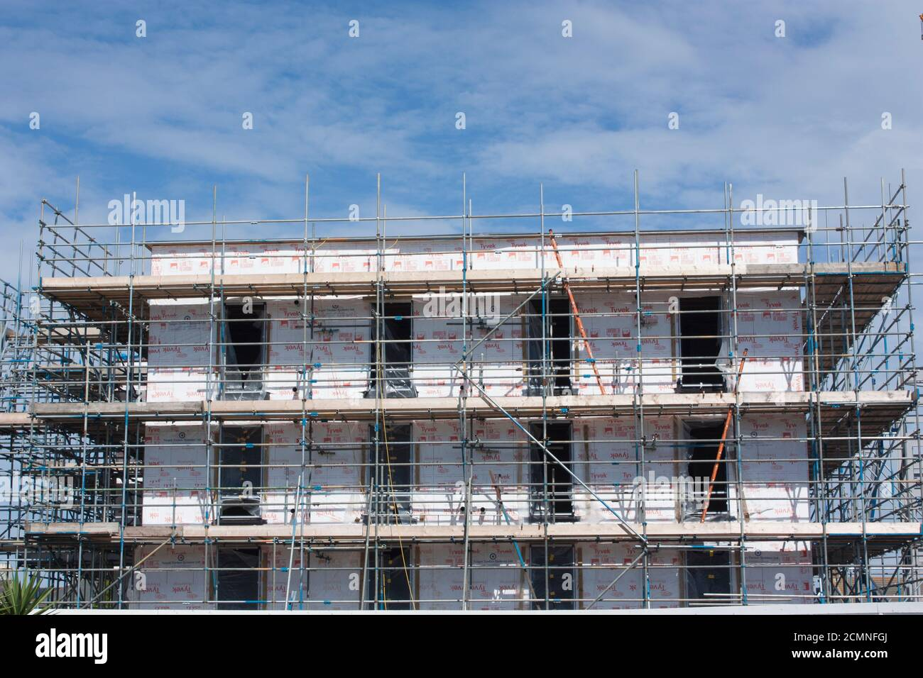 Kanalinseln. Guernsey. Admiral Park. Baustelle. Neues Premier Inn Gebäude. Stockfoto