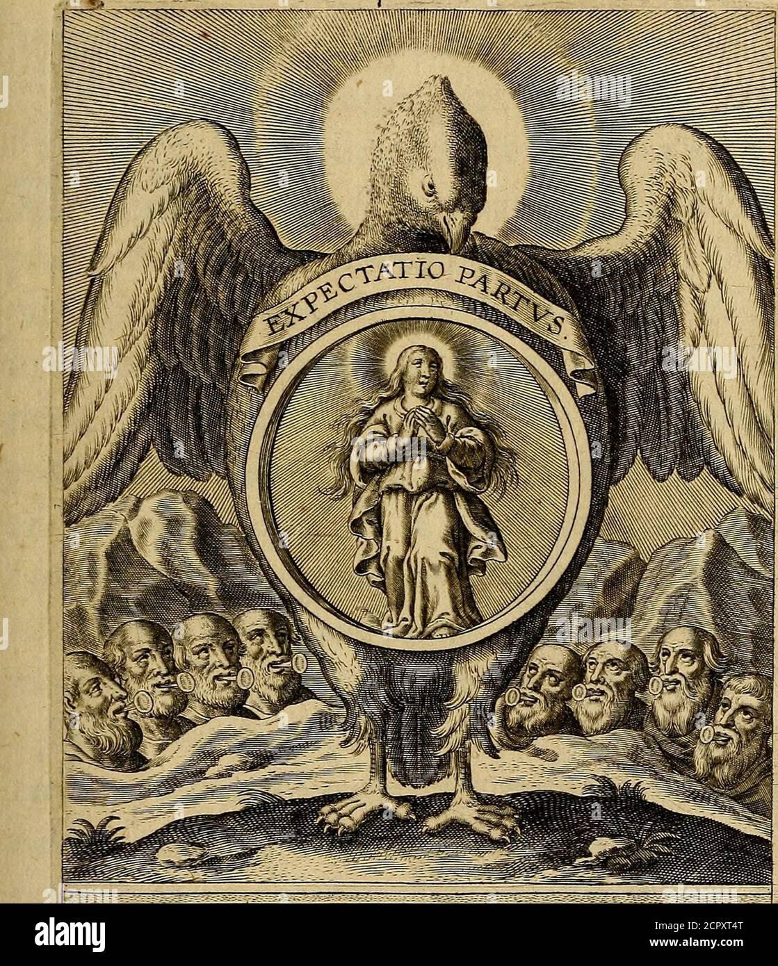 . Sacrum Oratorium piarum imainum Immaculatae Mariae et animae creatae ac baptismo, poenitentia, et eucharistia innouatae : ars noua Bene viuendi et moriendi, sacris piarum imagematis figurata & illustata . fanUorum VOFETARelecjoce manifafii, in omni loco dominorum P 3 Tri-* ILS SACRI ORATORII PARS I. tribue quxfumus fofulis tuis^ qui (efrvinearum apud te no-Mine cenfentur > & fegetum > cuius fa-cri Bastifmi virtute benedidta creatura floret, fre-<5tificat, & triumphat. Sancta Maria. Setzen Sie sich in Tabula Stockfoto