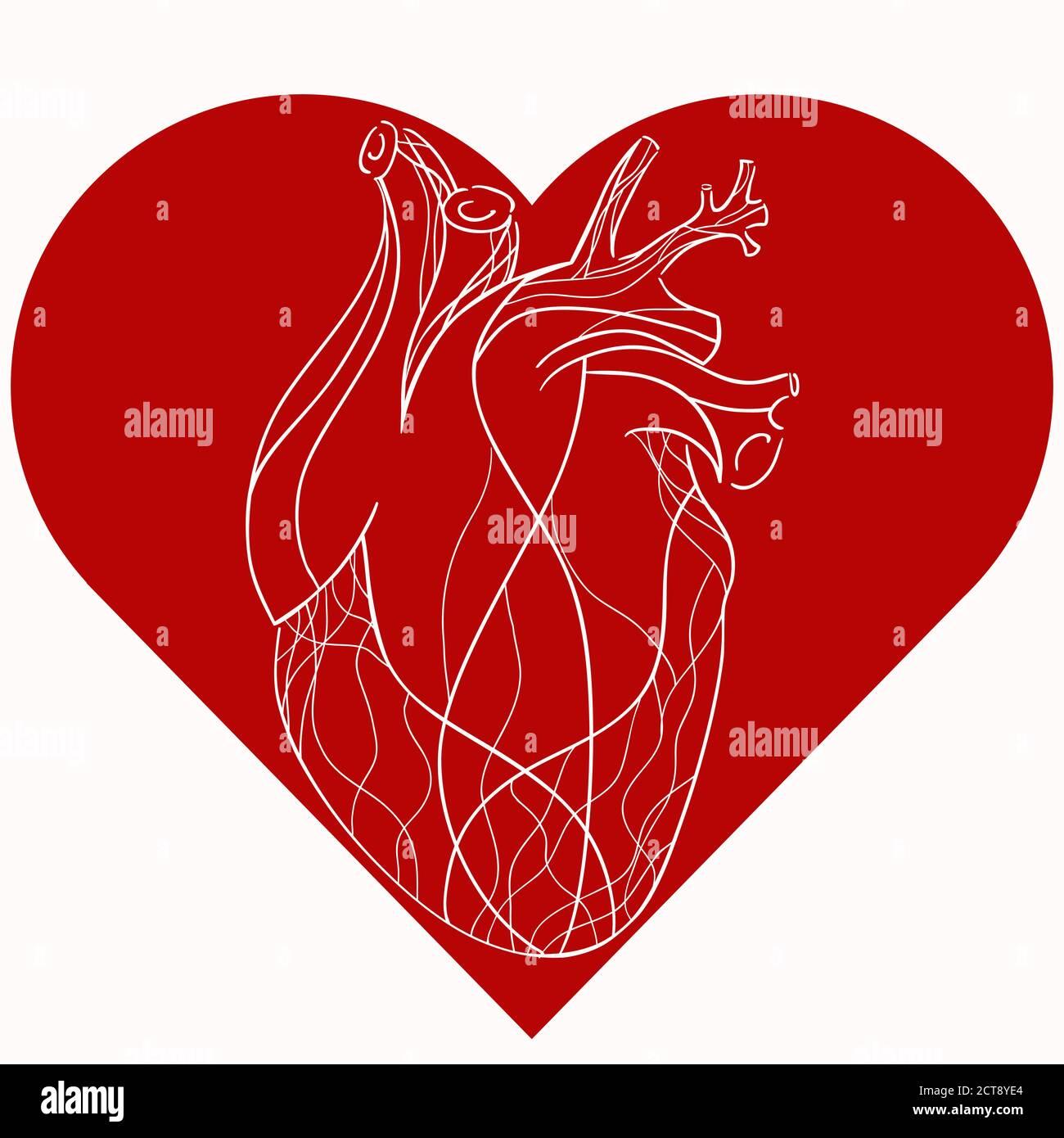 Geschwungen herz grafik Schablone Herz