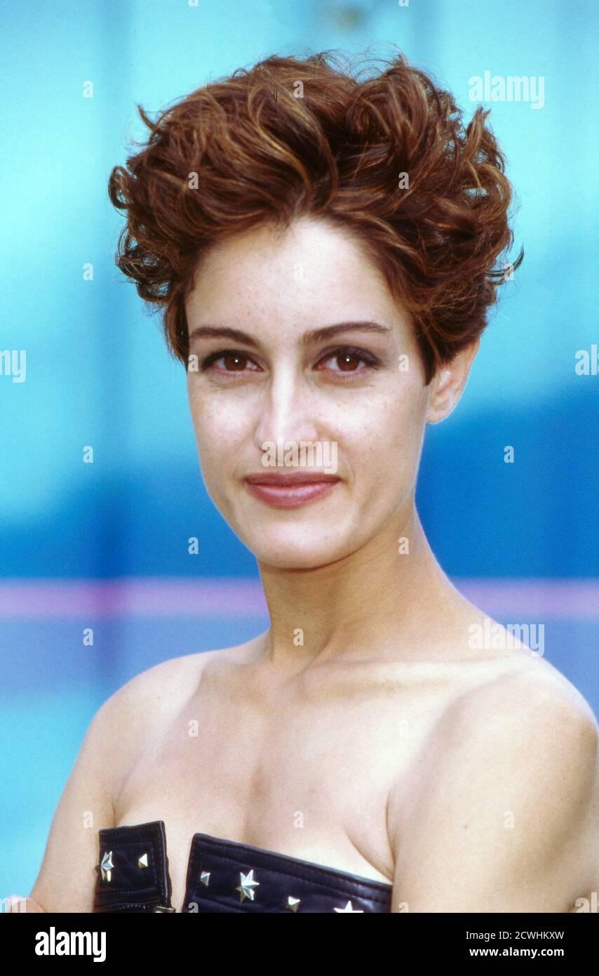 ZDF Fernsehgarten, Sonntag-Unterhaltungsshow, Sendung vom 3. Juli 1994, Gaststar: Sängerin ? Stockfoto