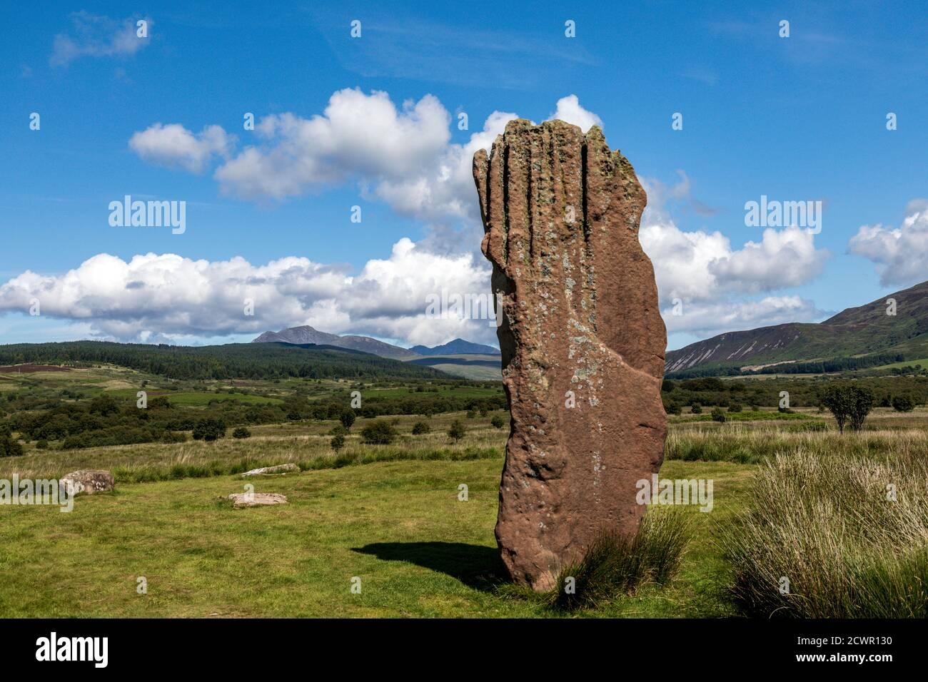 Machrie Moor Standing Stones, Isle of Arran, Schottland, Großbritannien Stockfoto