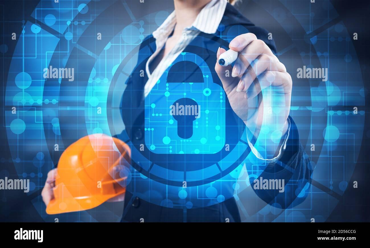 Computer Sicherheit und Informationstechnologie Stockfoto