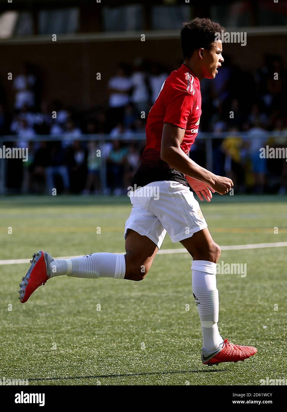 Mason Greenwood von Manchester United feiert das erste Tor seiner Seite Des Spiels Stockfoto