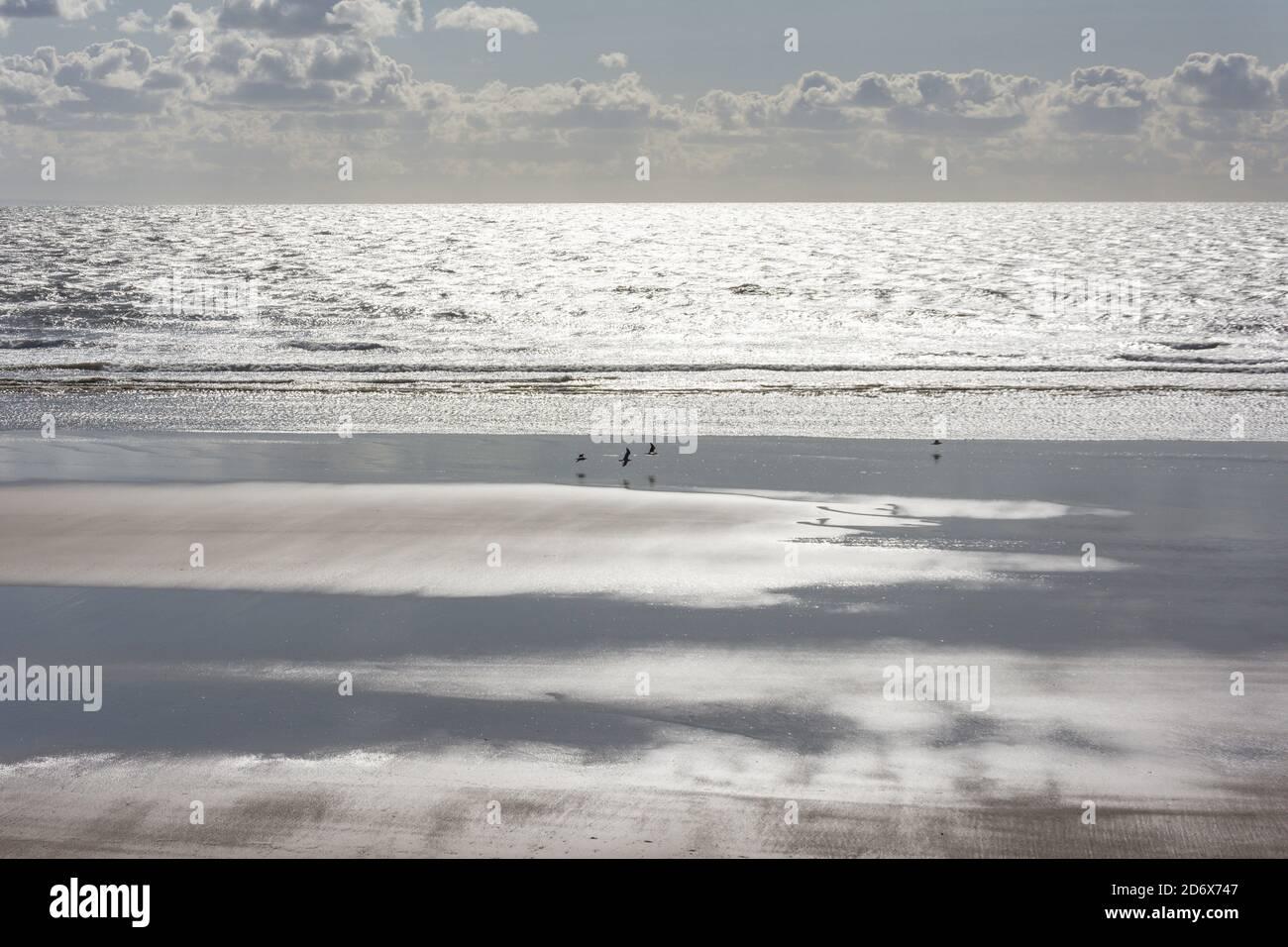 Aberavon Beach, The Princess Margaret Way, Port Talbot, Neath & Port Talbot County Borough, Wales, Vereinigtes Königreich Stockfoto