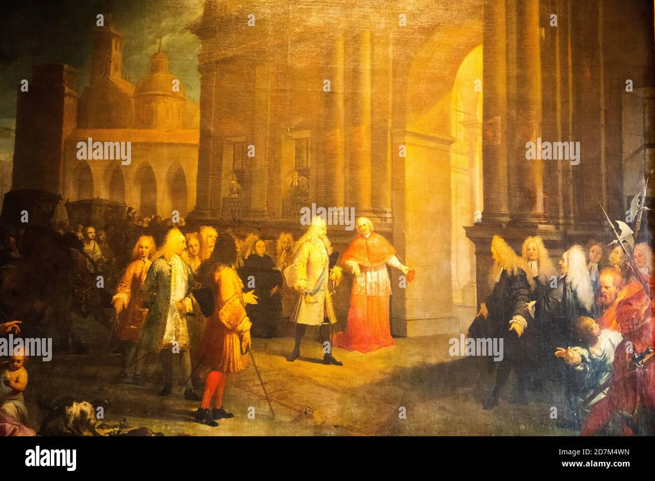 Zimmer der Festoons in der Burg saint Angelo CastelSant'Angelo Rom Vatikan Italien Stockfoto
