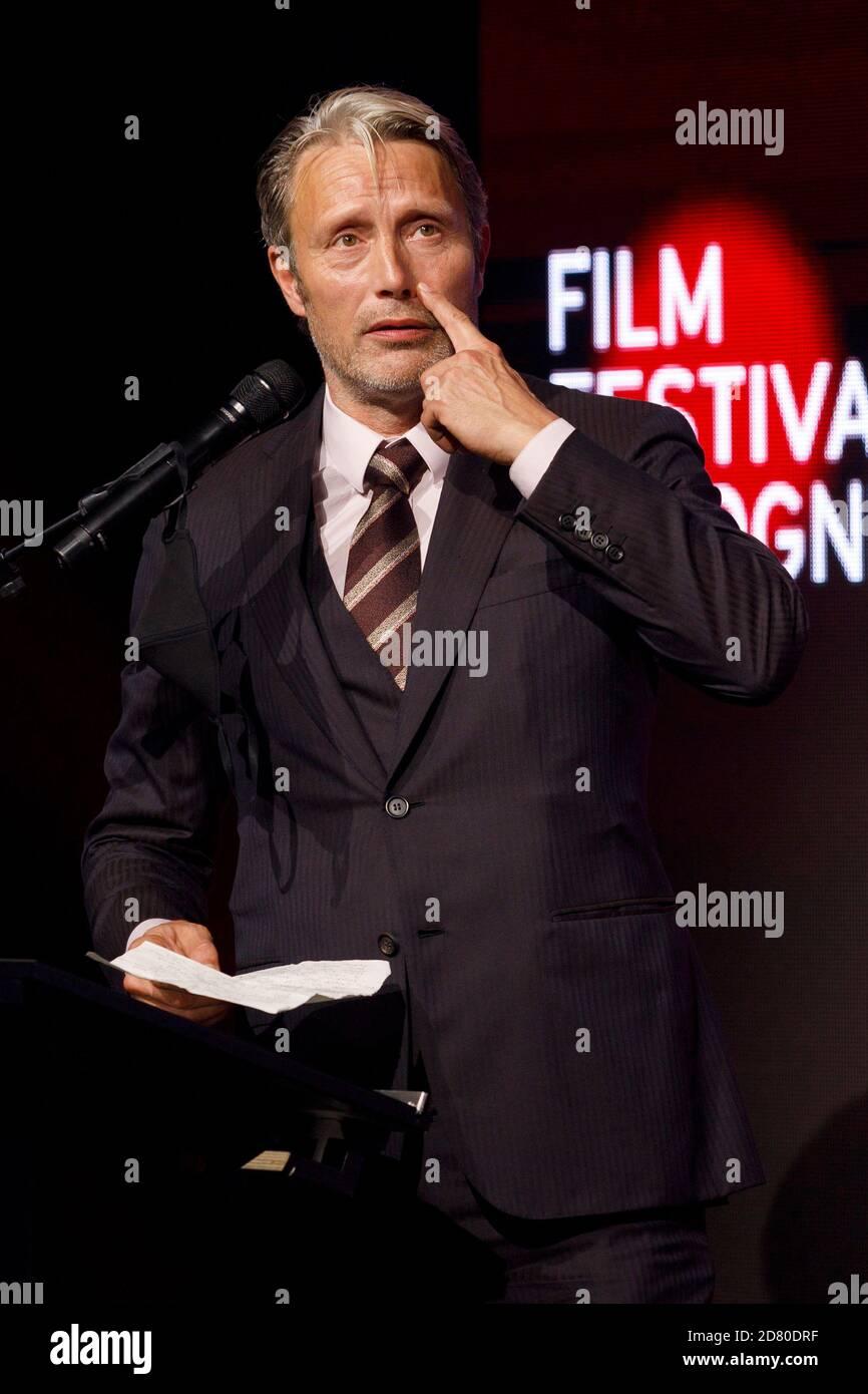 Mads Mikkelsen beim Filmfestival Cologne Awards 2020 beim 30. Filmfestival Köln 2020 im Palladium am 8. Oktober 2020 in Köln, Deutschland Stockfoto