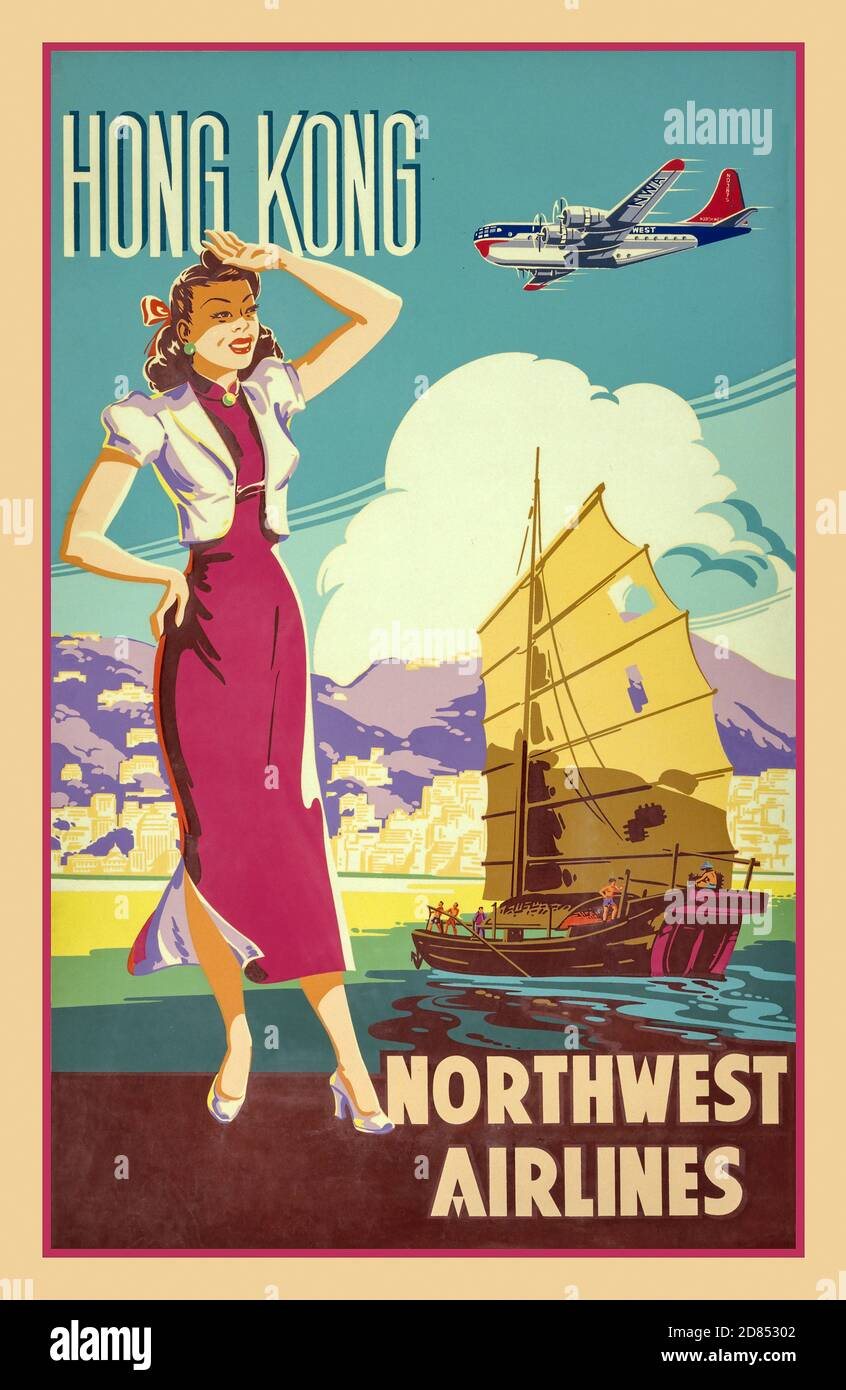 Boeing Jetliners Airline Reisetasche Retro Werbung Poster Druck Neu