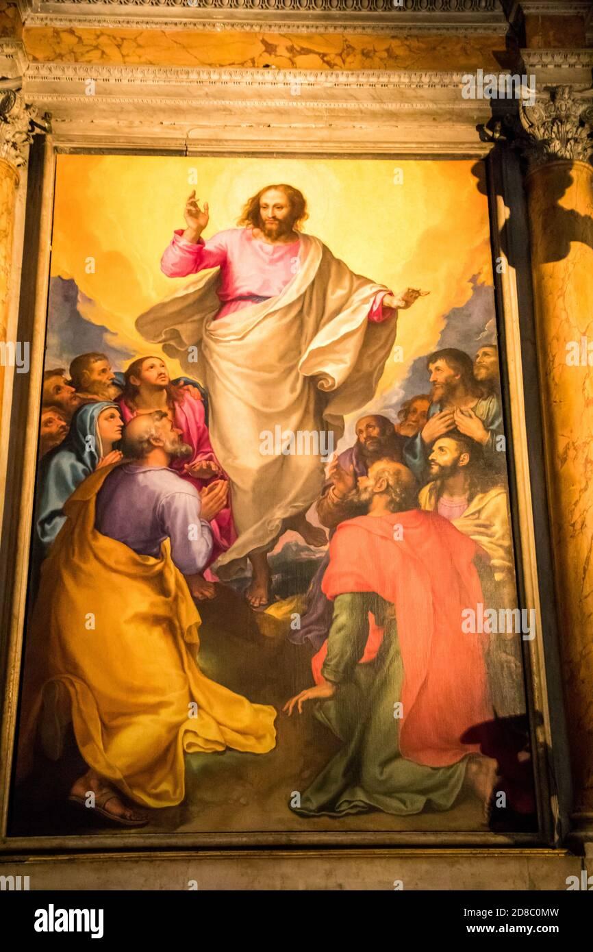 Capella della Ascensione in Chiesa Nuova auch bekannt als Santa Maria in Vallicella in Rom Italien Stockfoto