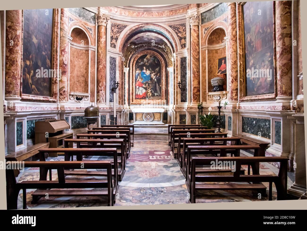 Chiesa Nuova auch bekannt als Santa Maria in Vallicella in Rom Italien Stockfoto