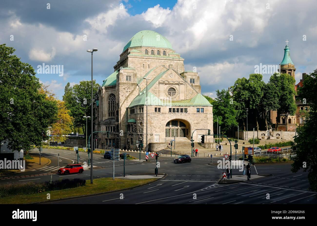 Alte Synagoge ist heute das Haus der jüdischen Kultur, Essen, Ruhrgebiet, Nordrhein-Westfalen, Deutschland Stockfoto